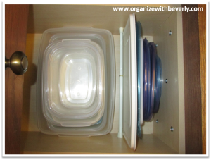 Example A - Organized Food Storage Containers in Drawer