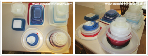 Sorted Food Storage Container Groupings