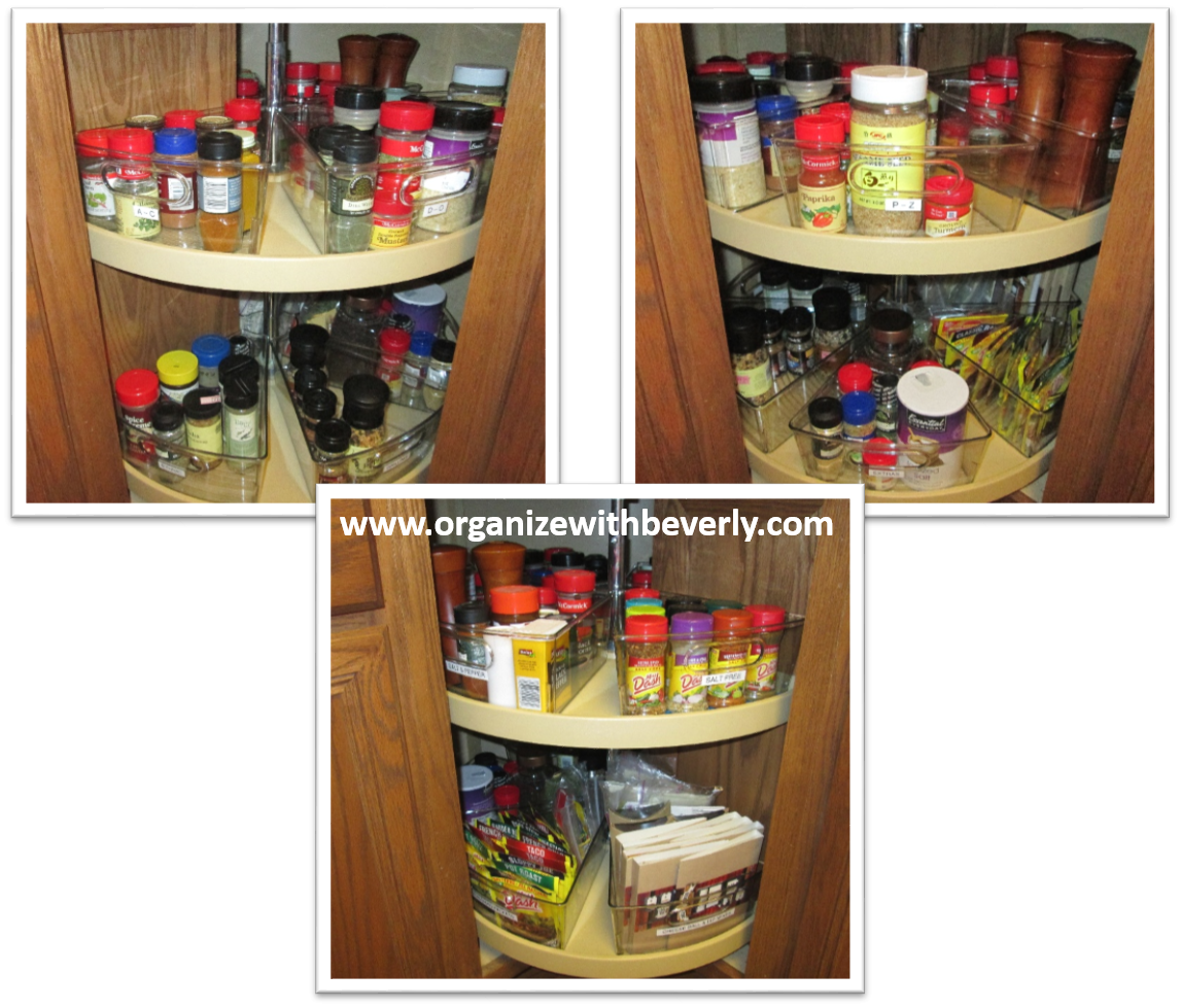 lazy susan organizer for kitchen cabinets organize with beverly llc professional organizer 22555